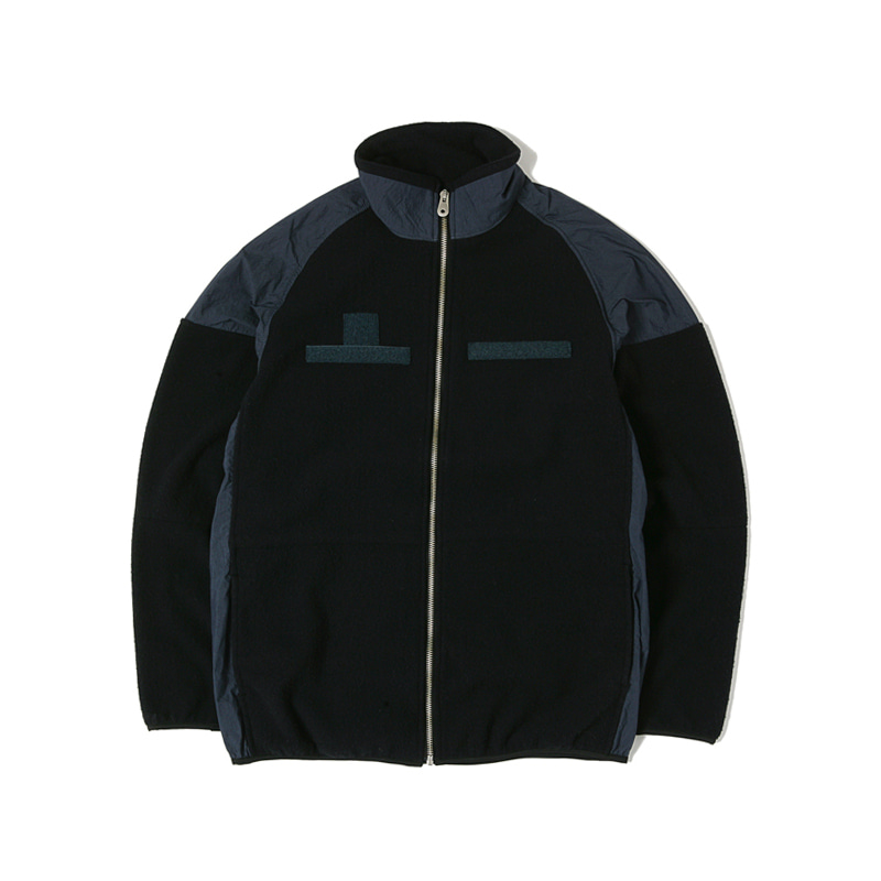 CWC FLEECE JACKET - BLACK