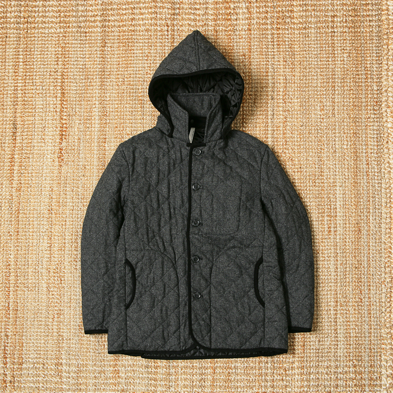 URBAN RESEARCH DOORS QUILTING HOODIE JACKET