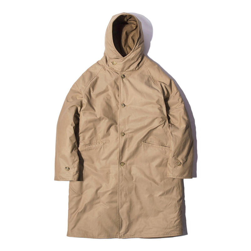BLANK JOURNEY HOOD COAT - BEIGE