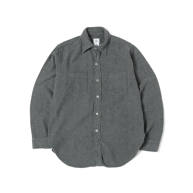 THE POST-W COTTON FLANNEL SHIRT - SLATE