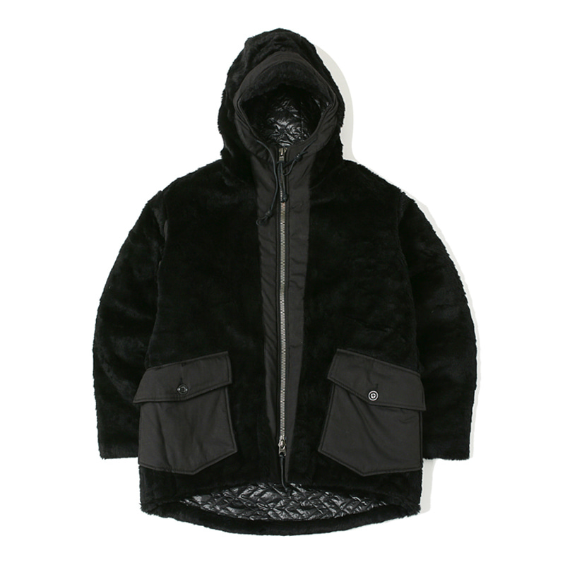 FUR COAT - BLACK