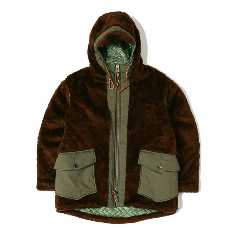 FUR COAT - BROWN