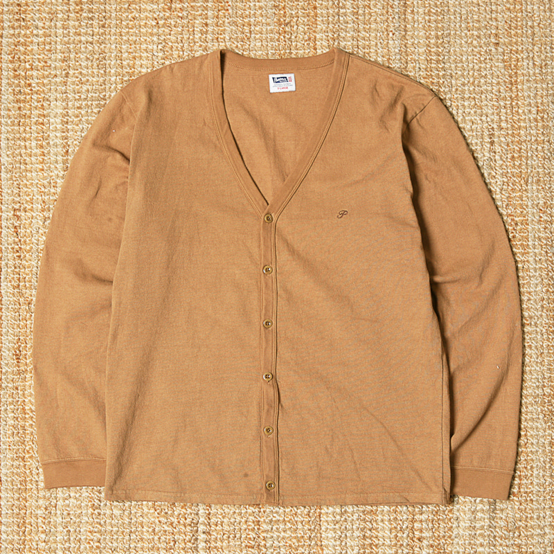 PHERROWS COTTON CARDIGAN - CAMEL