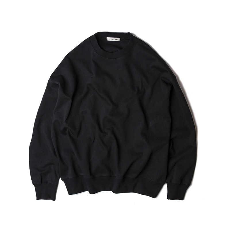 BLANK SWEAT SHIRTS - BLACK
