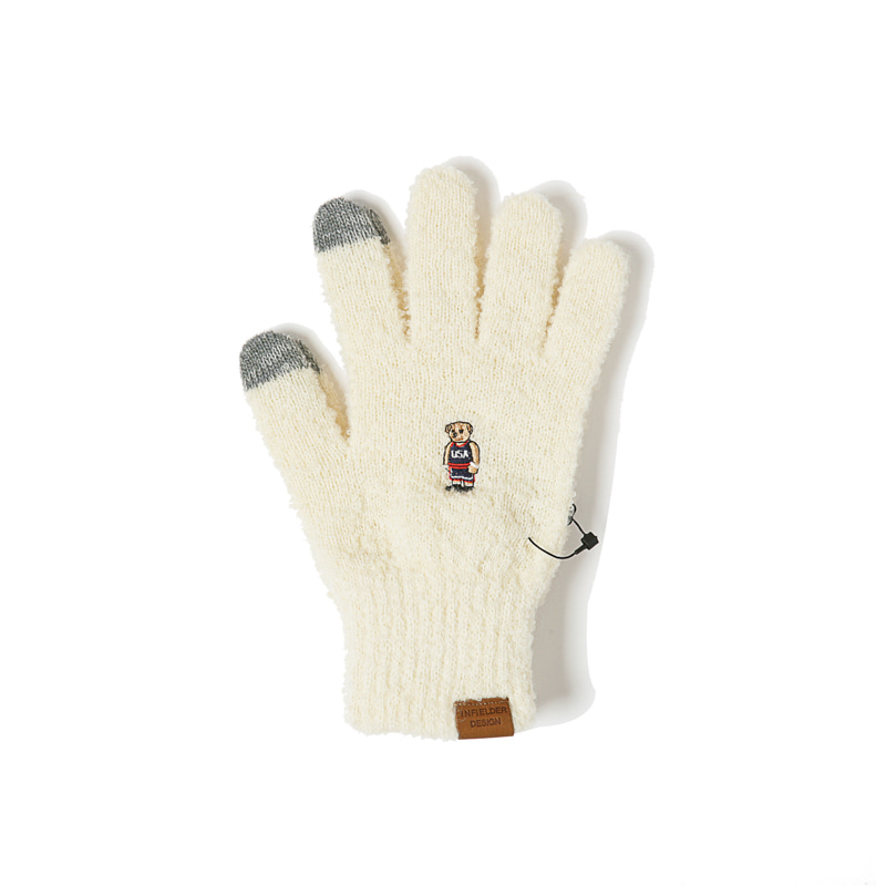 BEAR GLOVES - WHITE