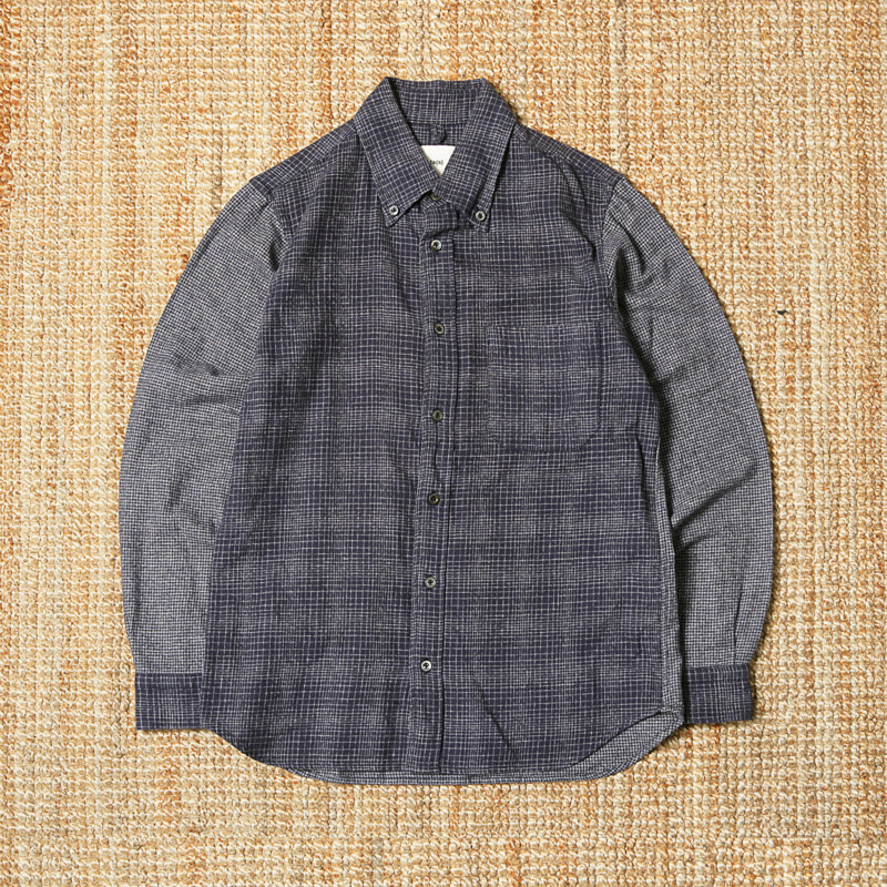 TS(S) CHECK SHIRTS - NAVY