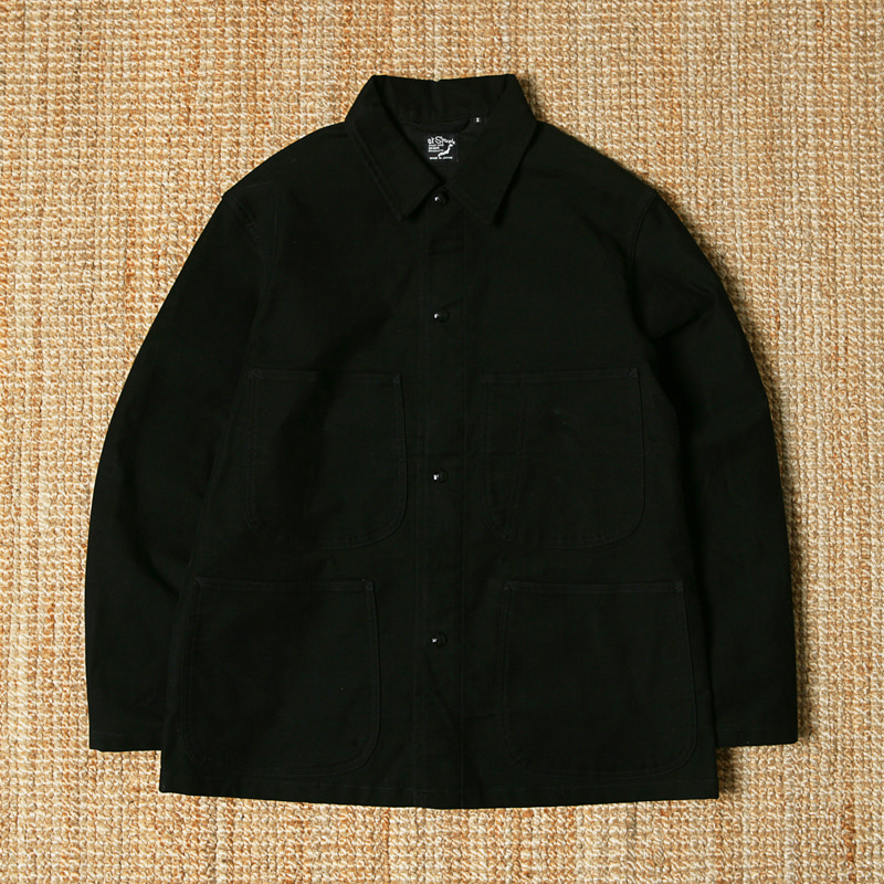 ORSLOW COTTON COVERALL - BLACK