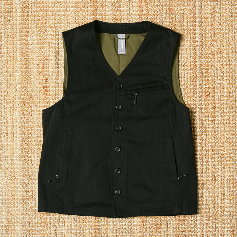 UNAFFECTED HERRINGBONE VEST
