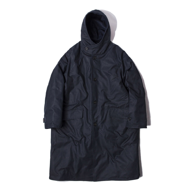BLANK JOURNEY HOOD COAT - NAVY
