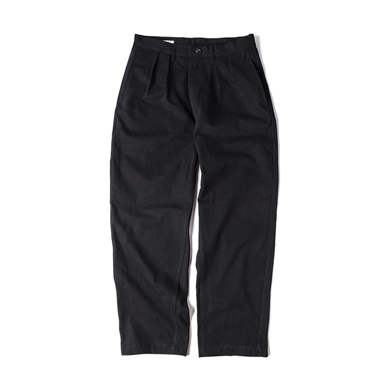 TWO TUCK PANTS - BLACK
