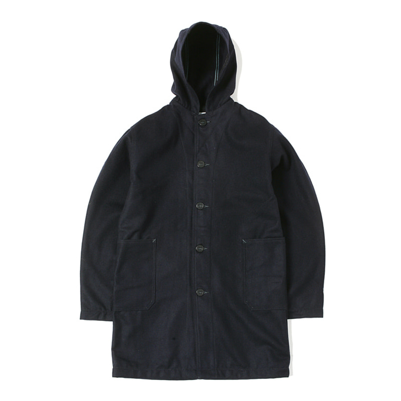 WOOL MELTON  COAT - NAVY