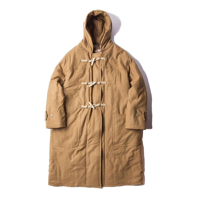 BLANK JOURNEY DUFFLE PADDING COAT - CAMEL