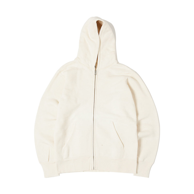 LOOPWHEEL ZIP PARKA - NATURAL