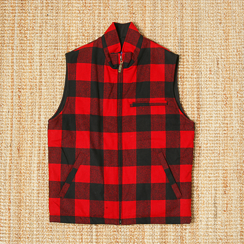 PENDLETON BUFFALO CHECK ZIP VEST