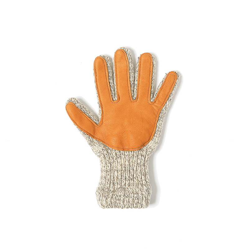 LINED LEATHER PALM GLOVE - TRADITIONAL GREY
