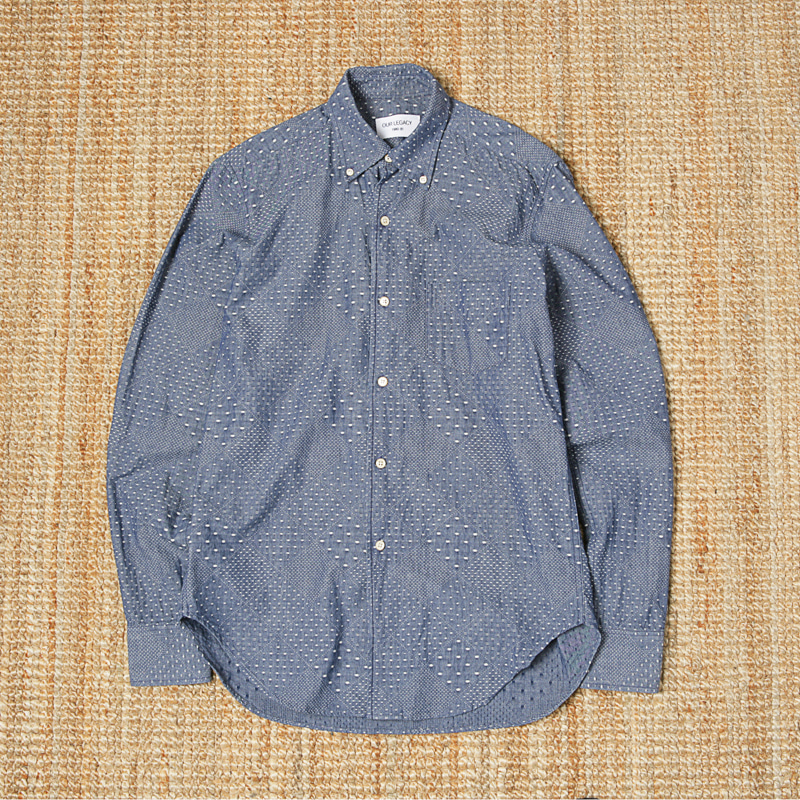 OUR LEGACY INDIGO CHAMBRAY SHIRTS