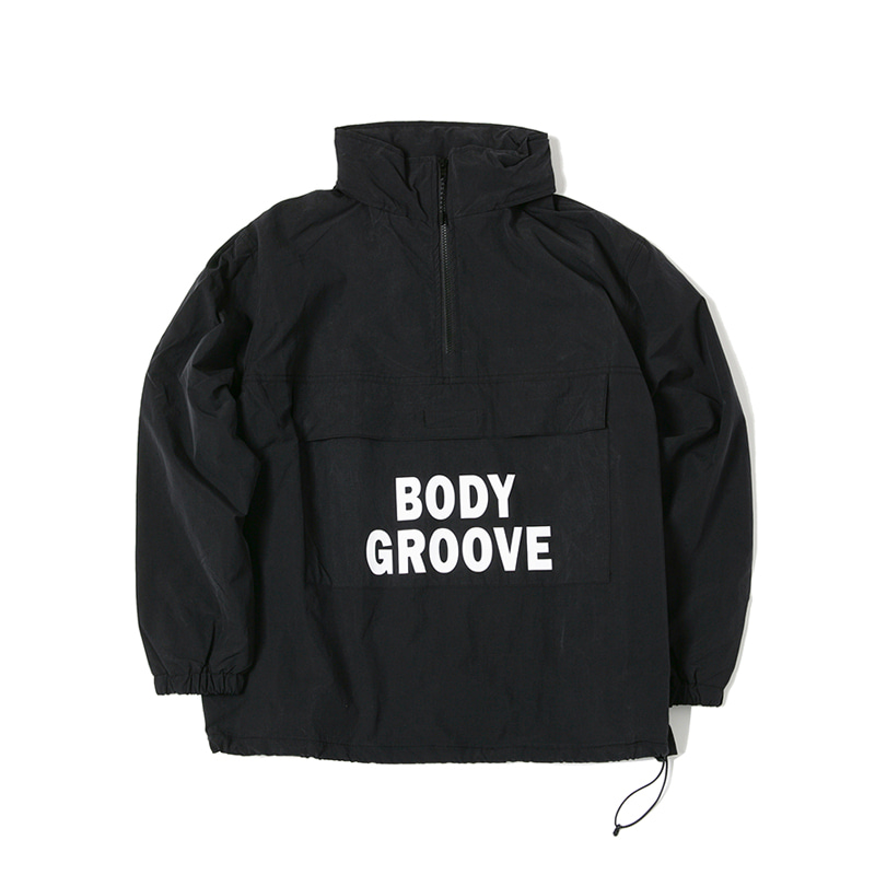 BODY GROOVE HALF ZIP - BLACK