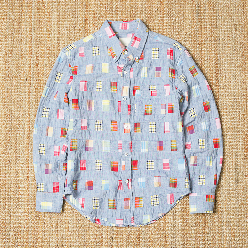 BAND OF OUTSIDERS PATCHWORK SHIRTS