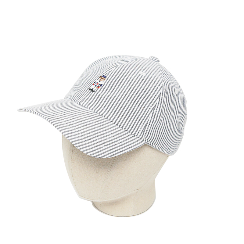 STRIPE BEAR CAP - GREY