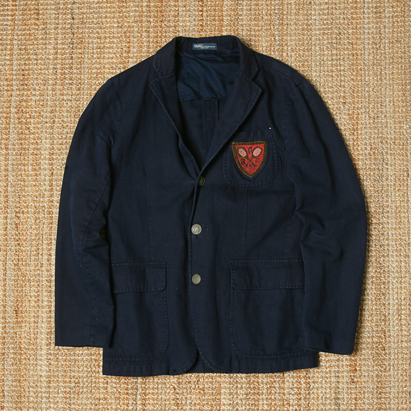 POLO PATCH SB JACKET - NAVY