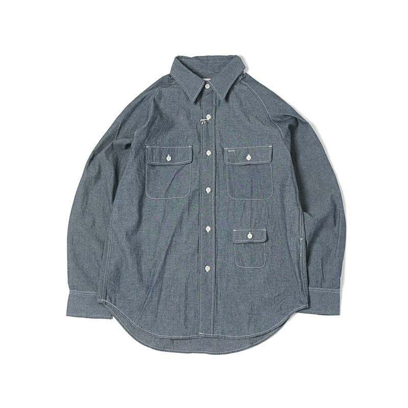 L/S CAMP SHIRT - INDIGO