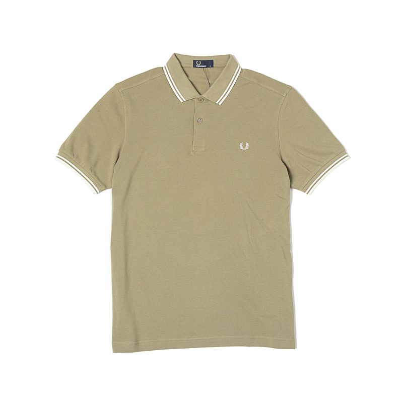 TWIN TIPPED FRED PERRY SHIRTS - SAGE