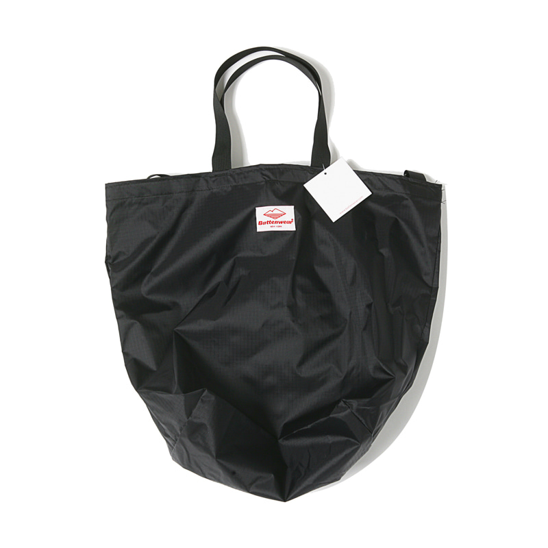 PACKABLE TOTE BAG - BLACK