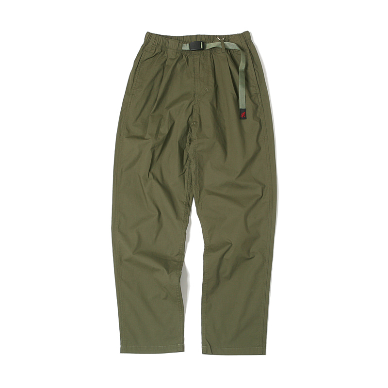 WEATHER TUCK TAPERED PANTS - OLIVE