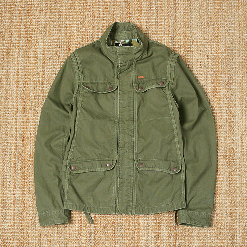 SCOTCH & SODA WAXED COTTON JACKET - OLIVE