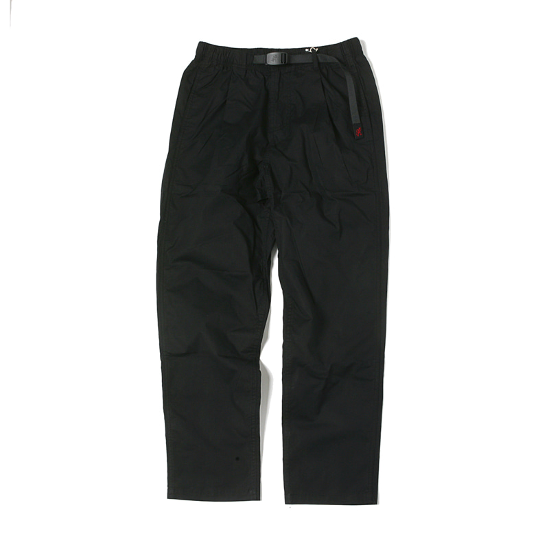 WEATHER TUCK TAPERED PANTS - BLACK