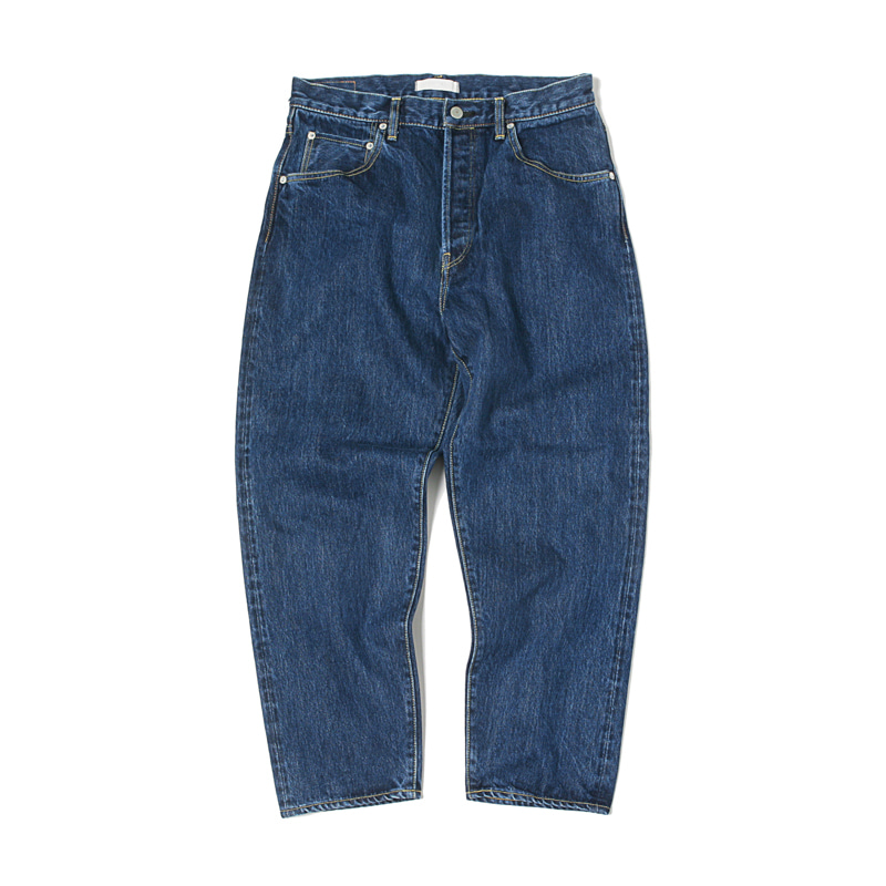 LOOSE TAPERED DENIM JEANS - BLUE