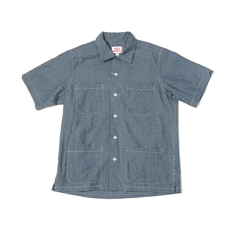 FIVE POCKET ISLAND SHIRT - INDIGO