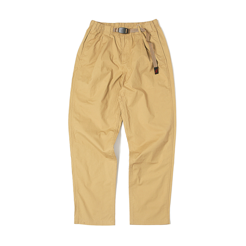 WEATHER TUCK TAPERED PANTS - SAND