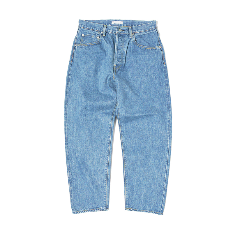LOOSE TAPERED DENIM JEANS - ICE BLUE