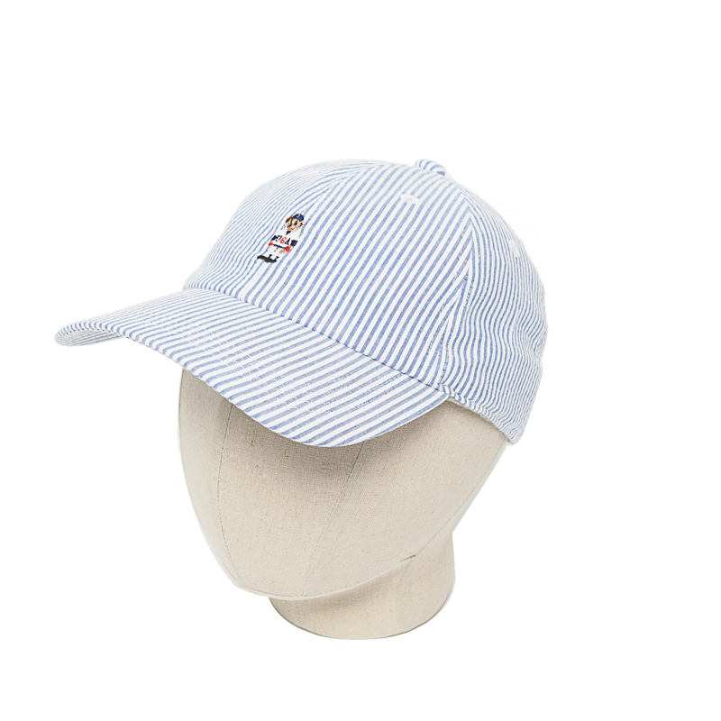 STRIPE BEAR CAP - BLUE