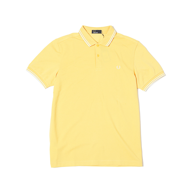 TWIN TIPPED FRED PERRY SHIRTS - CORN SILK