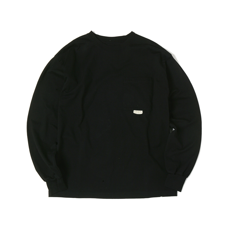HIGHEST L/S POCKET TEE - BLACK