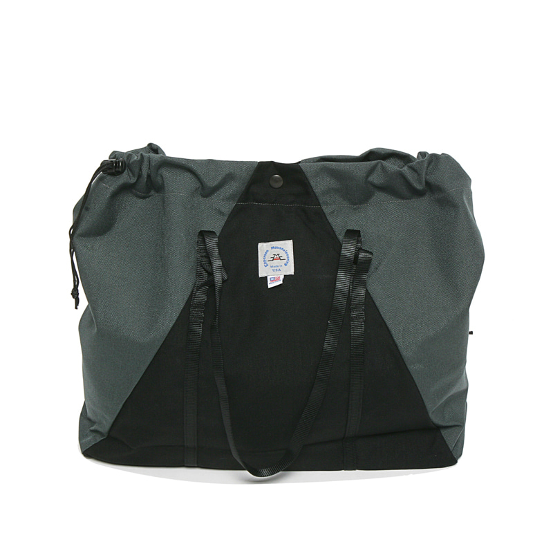 LARGE CAMP TOTE - RAVEN/STEEL