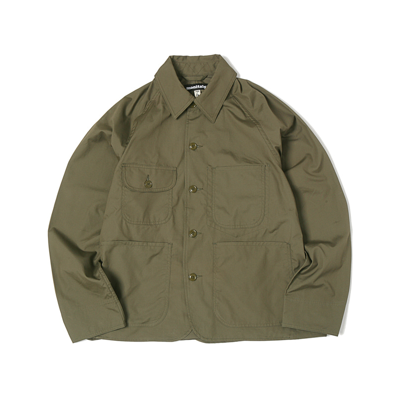 CROPPED COVERALL - VANCLOTH OXFORD OLIVE