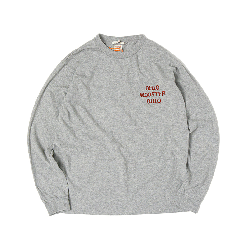 OHIO EMBROIDERY L/S TEE - GREY