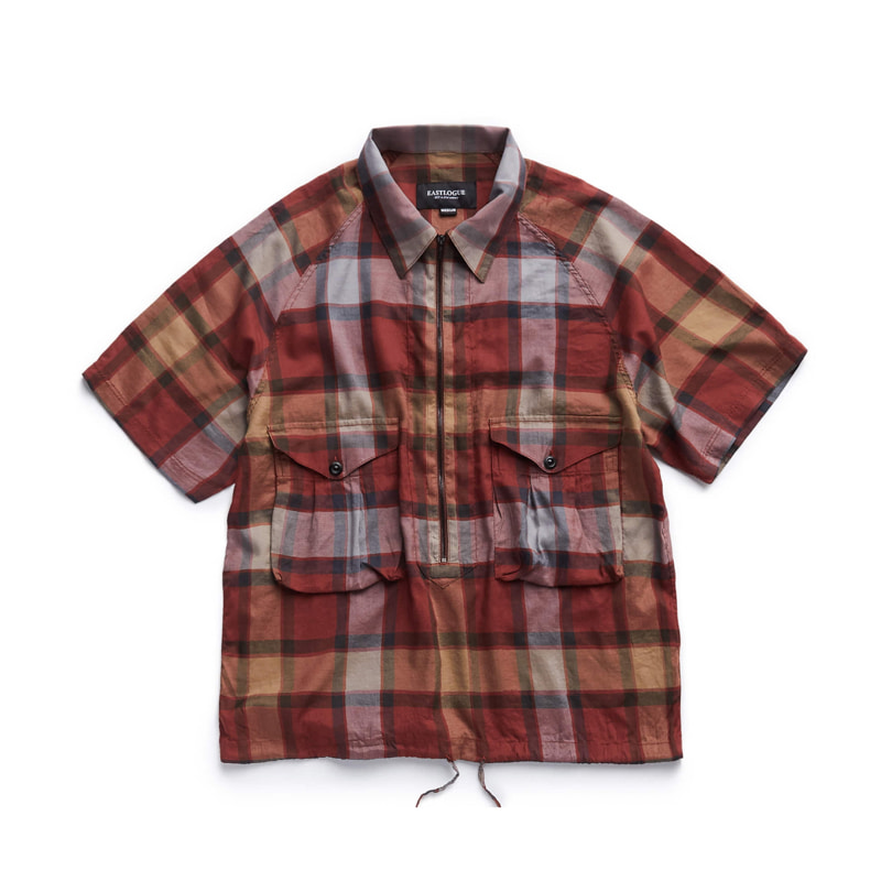 SCOUT PULLOVER HALF SHIRT - RED MULTI CHECK