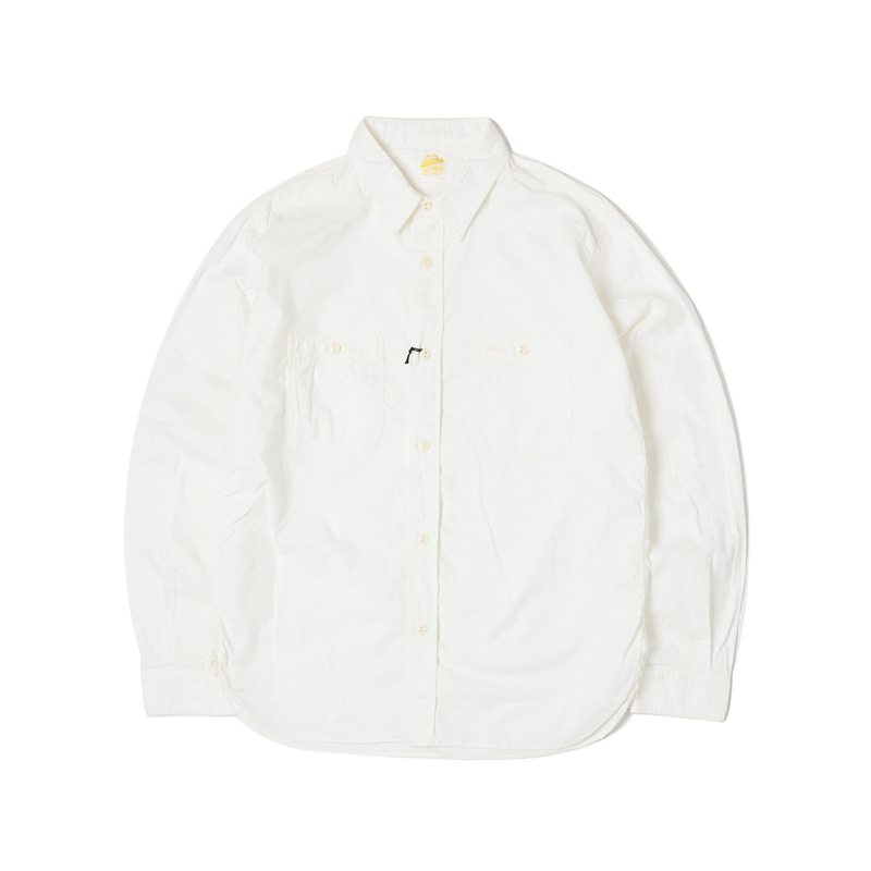 CHAMBRAY WORK SHIRTS - WHITE