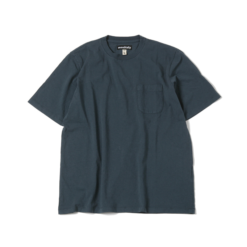 S/S POCKET TEE - INDIGO BLUE