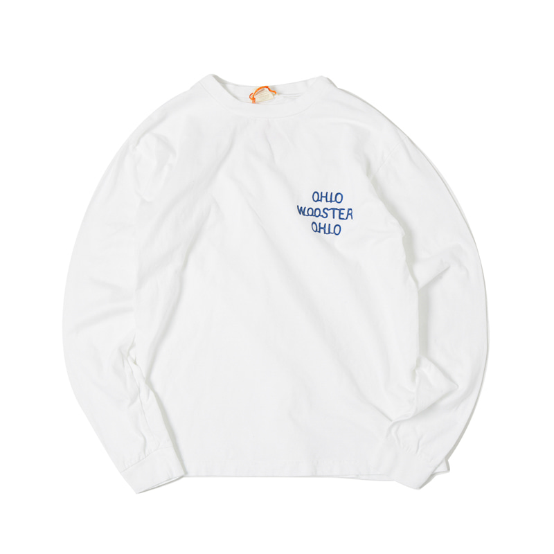 OHIO EMBROIDERY L/S TEE - WHITE