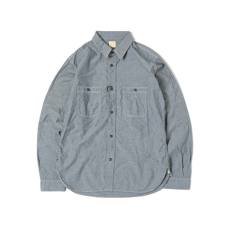 CHAMBRAY WORK SHIRTS - DENIM