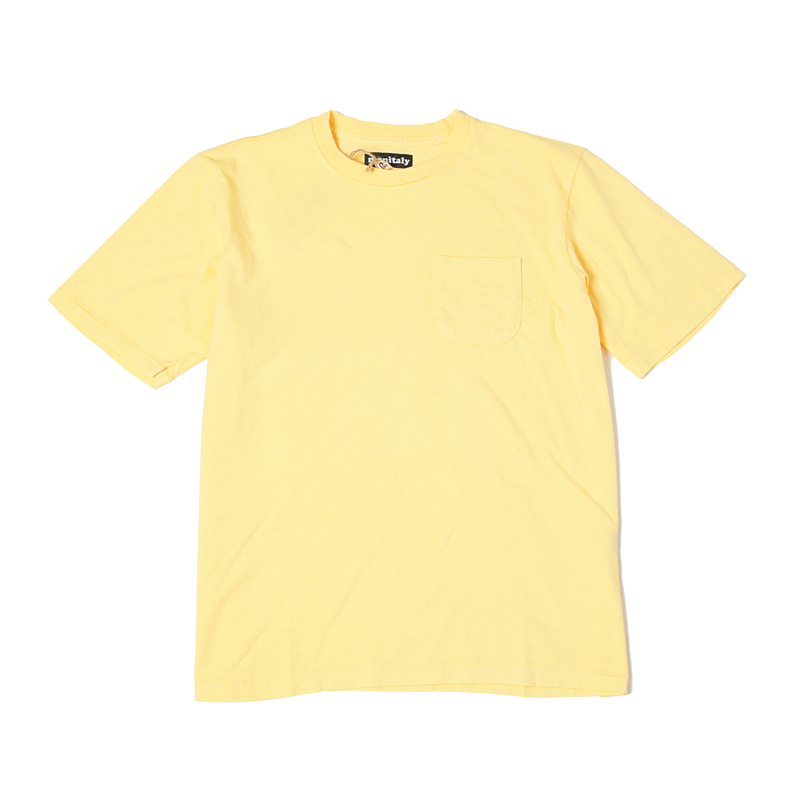 S/S POCKET TEE - LT YELLOW