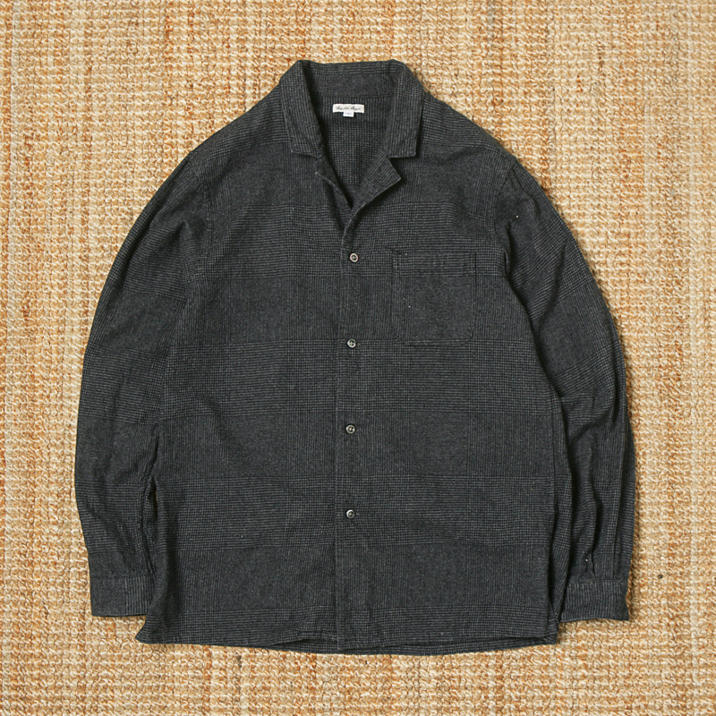 STEVEN ALAN CHECK SHIRTS - BLACK