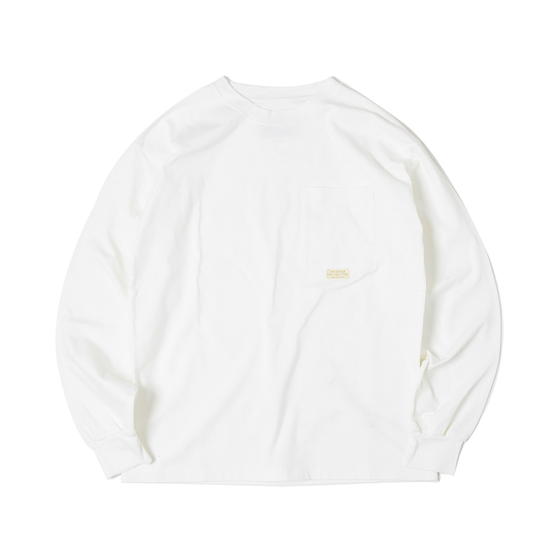 HIGHEST L/S POCKET TEE -  WHITE