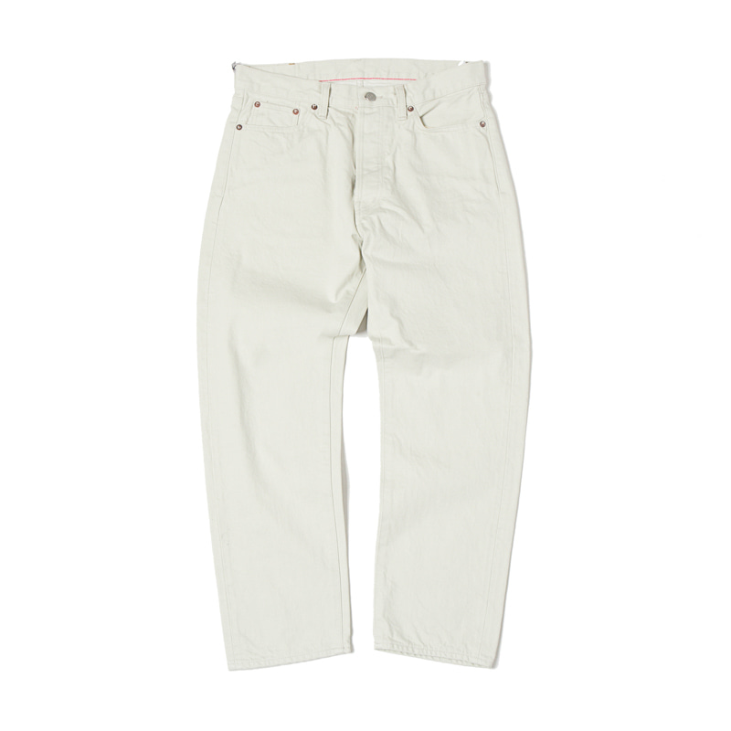 5 POCKET ANKLE DENIM PANTS - WHITE