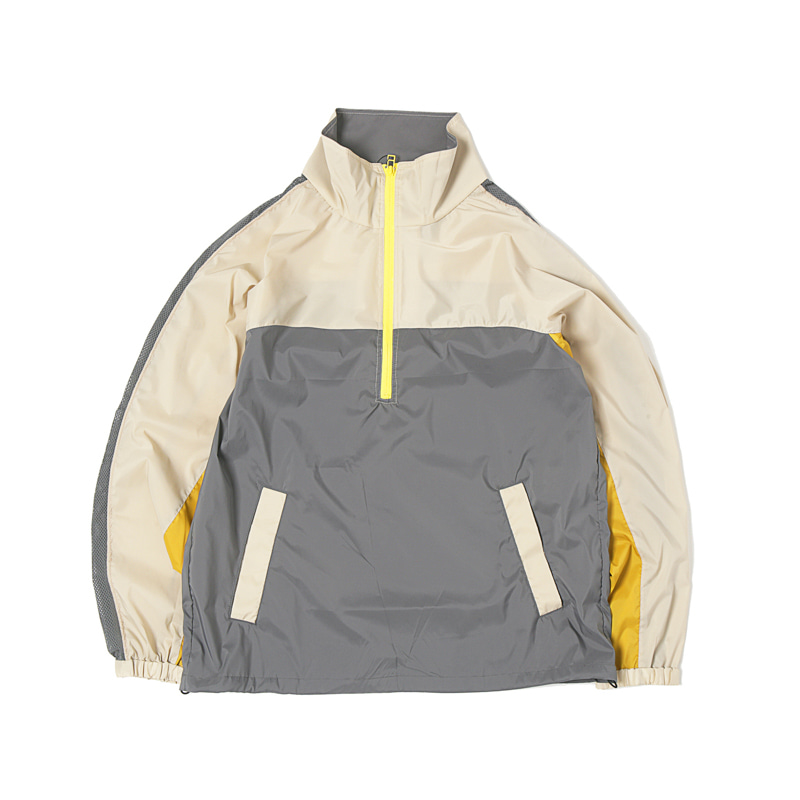 VENTILATE TRACK JACKET - BEIGE/COAL